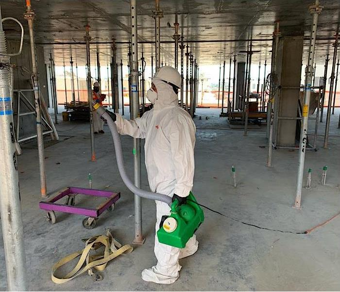 Covid19 Cleaning at a Construction Site in DTLA